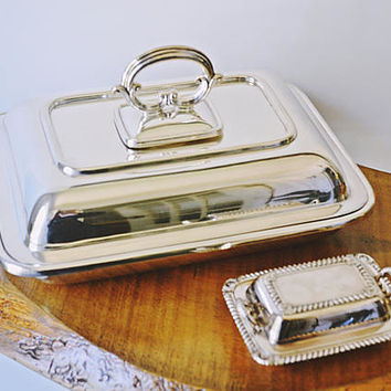 Harrison Bros & Howson Silver Plate Servers, Lidded Serving Dishes, Entree Dish And Caviar Dish