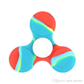 colour Adult Casual Decompressive Toys Hand Spinner Professional EDC Bearing Torqbar The silicone version Fidget Spinner For Autism and ADHD