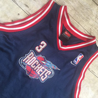 Vintage Steve Francis Houston Rockets Basketball Jersey kids clothing NBA