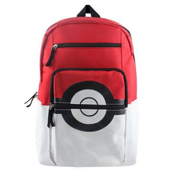 Japanese Anime Bag Pokemon Elf Ball backpack  school students schoolbag men and women shoulder bag couple cartoon casual canvas backpack AT_59_4