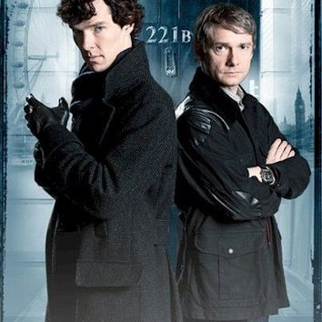 SHERLOCK POSTER ~ GAME IS ON 24x36 TV Benedict Cumberbatch Martin Freeman 221B
