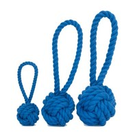 Harry Barker Medium Dark Blue Cotton Rope Tug & Toss Toy, Dog Chew Toy, Dog Tug Toy | Toad Hollow