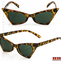 NEW Classic Retro Vintage Cat Eye Style Sun Glasses Small Tortoise Fashion Frame