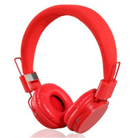 YongLe EP05 Fashionable 3.5 mm On-ear Headphones with Microphone (Red)