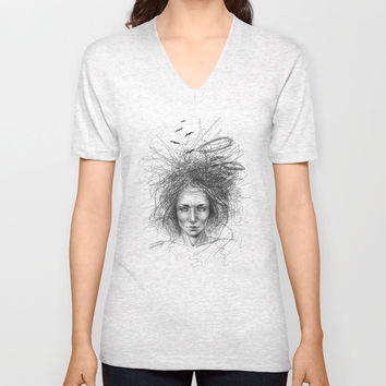 Nothing makes sense Unisex V-Neck by EDrawings38