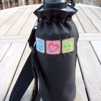 Peace Love Paws Insulated Water Bottle Carrier