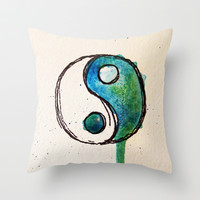 Runny balance Throw Pillow by Courtney Burns