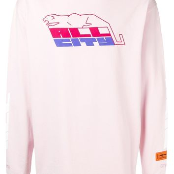 Vintage Off-Pink Graphic Sweatshirt by Heron Preston