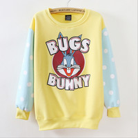 Bugs Bunny cartoon round neck sweater  T10941