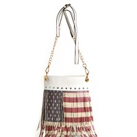 American Women White Crossbody Bag