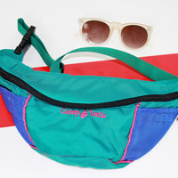vtg camping fanny pack festival fanny pack pouch functional neon green