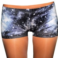 Space Galaxy Spandex Shorts