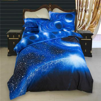 3D Bedding Star War Bedding Sets Galaxy Sky Bed Set Outer Space Bed Linens 4pcs Twin/Queen Size 3D Printed Duvet Cover Set