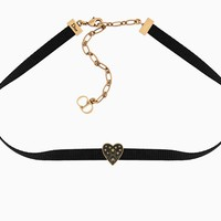 """Dior Or"" choker in aged gold-tone metal and black lacquer - Dior"