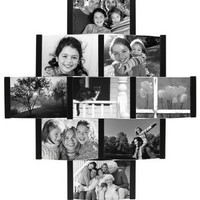 Aero 9-Opening Collage Picture Frame for 4-by-6-Inch Photos, Black