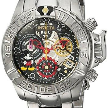 Invicta 24506 Women's Disney Limited Edition Quartz Stainless Steel Casual Watch Silver-Toned