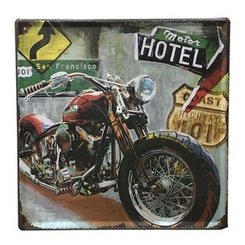 Bar Cafes Coffee Shop Wall Hanging Decoration Iron 3028