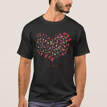 In Love Big Red Paint Heart T-Shirt