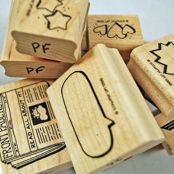 "Stampin Up Stamp Set RUBBER STAMPS ""Photo Album Fun"" 1996, Very Very Retired, Near New Set - Scrapbooking, Cardmaking"