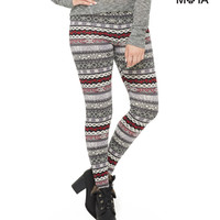 Aeropostale  Womens High-Waisted Fair Isle Leggings