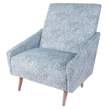 Dayton Fabric Accent Chair, Quiver Indigo Blue