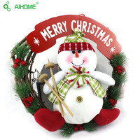 1 Pcs Christmas Wreath Decorations Door and Window Merry Christmas Decor Party Graland