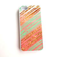 Coral Mint Gold iphone 6, Coral Mint Tribal ombre iphone 6 plus, Mint Gold iPhone 5 Case, iPhone 4 Case, iPhone 4s, Samsung Galaxy s4 s3