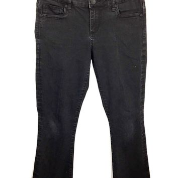 Kut From The Kloth Farrah Baby Boot Cut Black Jeans Women's 6 - Preowned