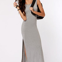 Maximum's the Word Grey Maxi Dress