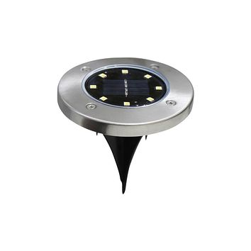 8-LED Solar Power Buried Light for Outdoor Garden
