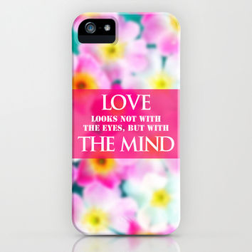 LOVE LOOKS NOT WITH THE EYES, BUT WITH THE MIND iPhone & iPod Case by Ylenia Pizzetti