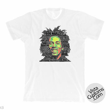 BOB MARLEY Music Songs Heavy Metal Punk Rock White New Hot T-Shirt