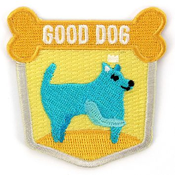 Good Dog Decorative Embroidered Sew or Iron-on Backing Patch