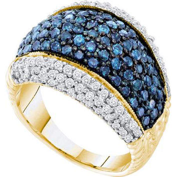 Blue Diamond Fashion Band in 10k Gold 1.75 ctw