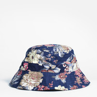 Navy Paradise Floral Bucket Hat