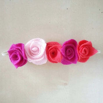 Infant Flower Crown - Baby Flower Headband - Toddler Headband - Infant Flower Headband - Baby Shower Gift - Pink Flower Headband
