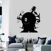 Wall Decal Funny Decor Music Musical Instrument Nursery Vinyl Stickers Unique Gift (ig2870)