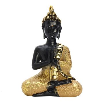 Exquisite Thai Buddha Statue Praying Sitting Meditating Figurine Sculpture  Feng Shui Ornaments Crafts For Home Offfice