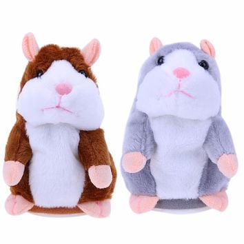 Lovely Kids Baby Talking Toys Talking Hamster Plush Toy Sound Record Speaking Hamster Talking Toys for Children Educational Toys
