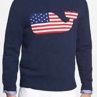 Men's Vineyard Vines 'American Flag Whale' Intarsia Knit Slub Sweater,