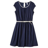 Xhilaration® Juniors Belted Pintuck Fit & Flare Dress - Assorted Colors