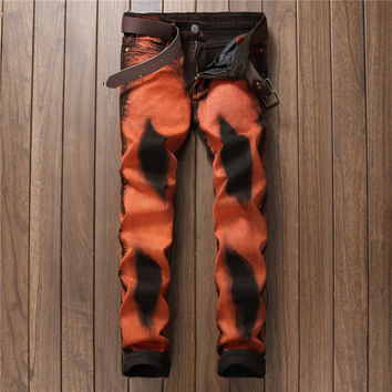 Men Pants Stretch Jeans [9892502147]
