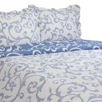 Pegasus Home Fashions Vintage Collection Teresa Reversible Quilt/Sham Set, King Size