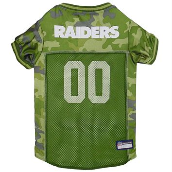 Oakland Raiders Pet Camo Jersey