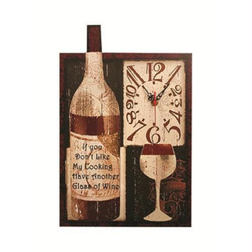 Wall Clock - If You Don't Like My Cooking Have Another Glass Of Wine
