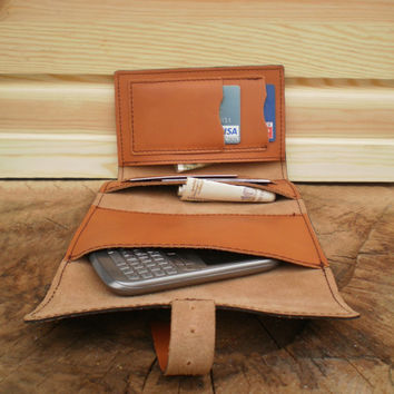 Mens wallet, iPhone 6 wallet, iPhone Case, Groomsmen, iPhone Cover, toffee, pocket wallet, handmade, cash wallet, small leather pouch, gift