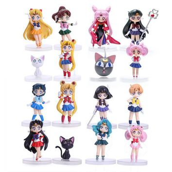 Sailor Moon Mini PVC Action Figures 16 Piece Set