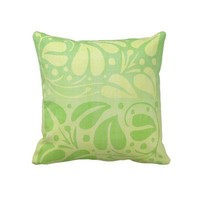 Green and Yellow Leaves Throw Pillow from Zazzle.com