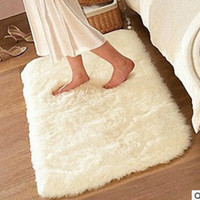 80*160cm long hair Bedroom Decorating Soft Floor Carpet Warm Colorful Living Room Floor Rugs Slip Resistant Mats
