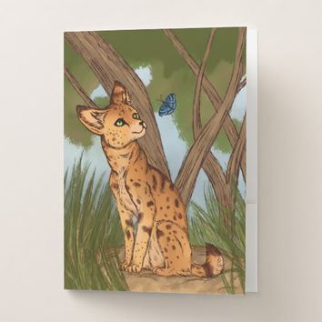 The Serval and the Butterfly Pocket Folder